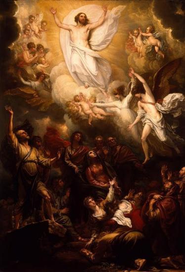 Benjamin West,Ascension of Christ 1801,parousie.over-blog.fr