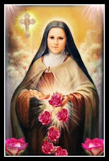 Pluie de roses de Sainte Thérèse de Lisieux