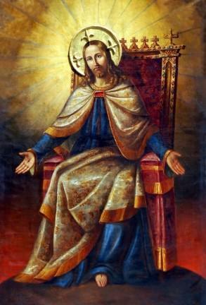 Christ-Roi dans Son Trône