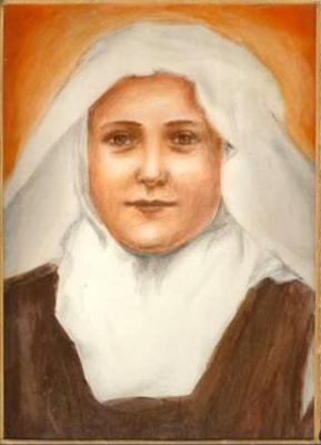 Dessin de Sainte Thérèse de l'Enfant-Jésus et de la Sainte-Face