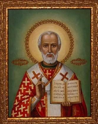 Icône Saint Nicolas de Myre, fête le 6 décembre