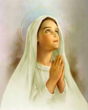 Image pieuse de la Vierge Marie enfant
