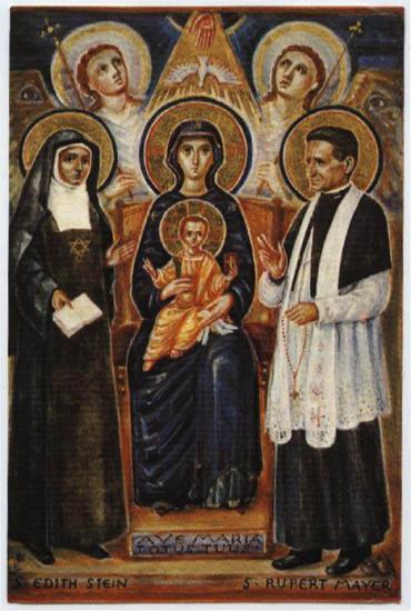 Sainte-Edith Stein, Père Rupert Mayer, Marie et l'Enfant-Jésus