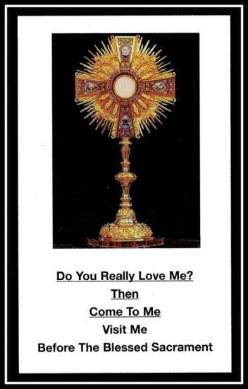 Jésus est réellement présent dans l'Eucharistie
