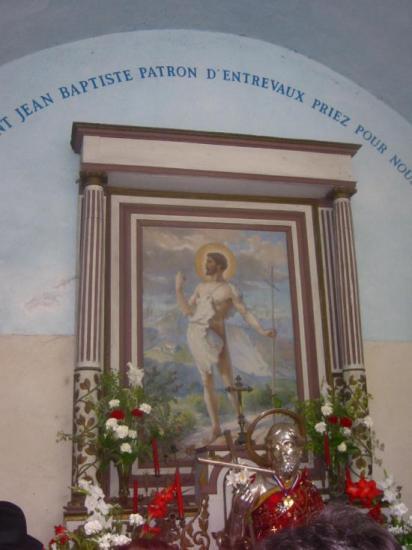 Saint Jean-Baptiste, patron d'Entrevaux (04)