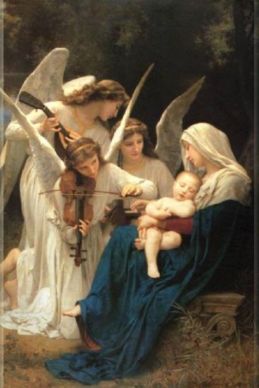 Marie, Jésus et les anges musiciens