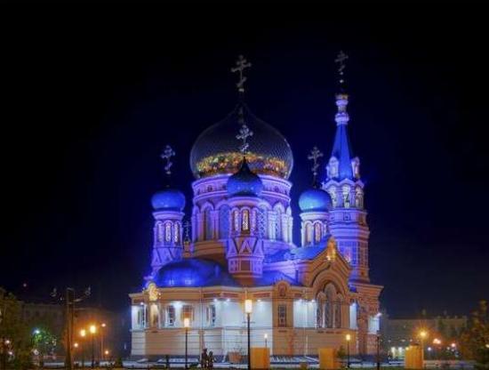 Cathédrale de l'Assomption à Omsk (Russie)