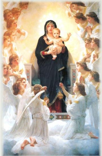 Marie, l'Enfant-Jésus et les anges