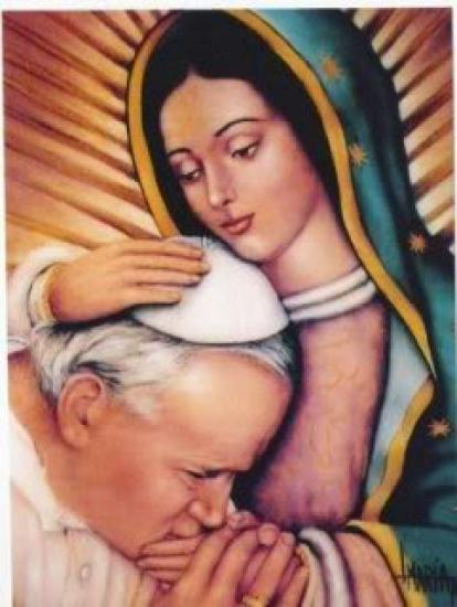 Notre-Dame de Guadalupe et le Pape Jean-Paul II