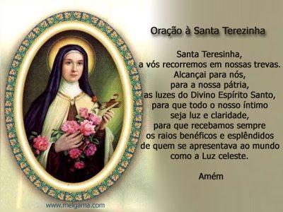 Oração a Santa Teresinha do Menino Jesus