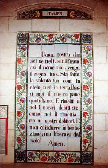 Notre Père en italien/Padre nostro