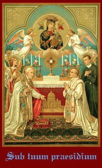 Prions avec le Saint père en ce mois d'octobre (+supplique à la Sainte Vierge et à Saint Michel) Veneration-of-OMPS-Sub-Tuum-Praesidium
