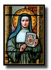 Sainte Marguerite-Marie Alacoque et le Sacré-Coeur