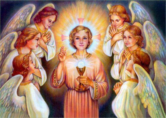 Jésus Eucharistie et anges