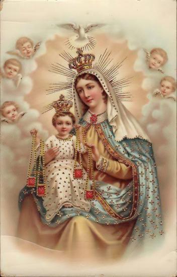 Notre-Dame, l'Enfant-Jésus et le scapulaire,parousie.over-blog.fr