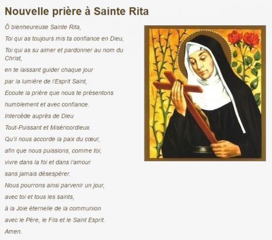Nouvelle prière à Sainte-Rita http://www.sainte-rita.net