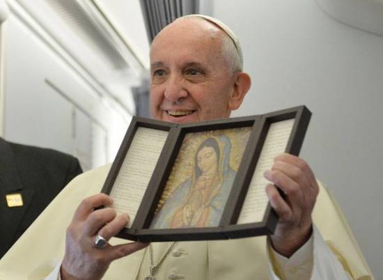 Pape François et Notre-Dame de Guadalupe