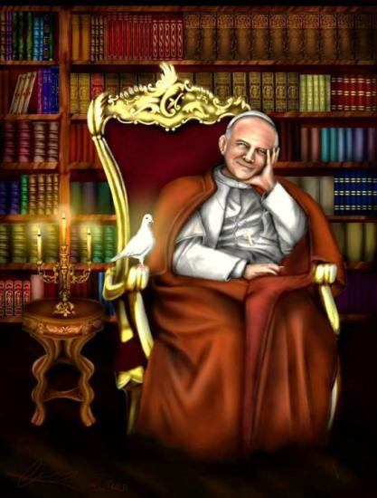 Peinture du Pape Jean-Paul II