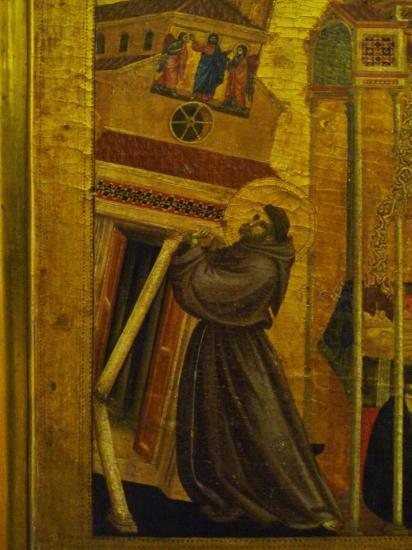 Songe d'Innocent III, Saint François soutenant l'Eglise