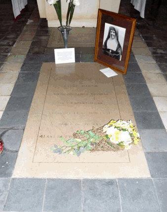 Tombe de Léonie Martin, crypte de la Visitation de Caen