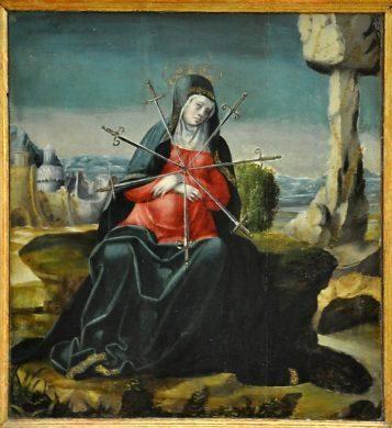 'Vierge aux 7 glaives', Notre-Dame des Douleurs (XVIe)