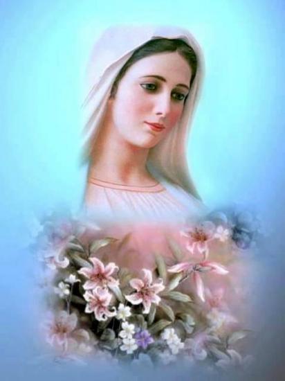 Vierge Marie fleurie