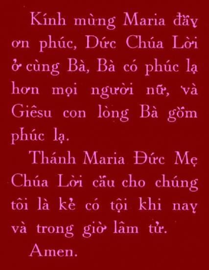 Je Vous salue Marie en Viêtnamien/Vietnamese Hail Mary