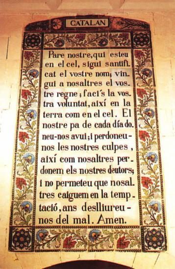 Notre Père en catalan/Catalan Pater Noster