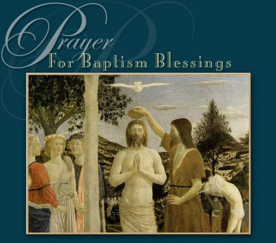 E-card for Baptism Blessings