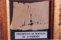 Morceau de linge de Sainte-Gemma Galgani