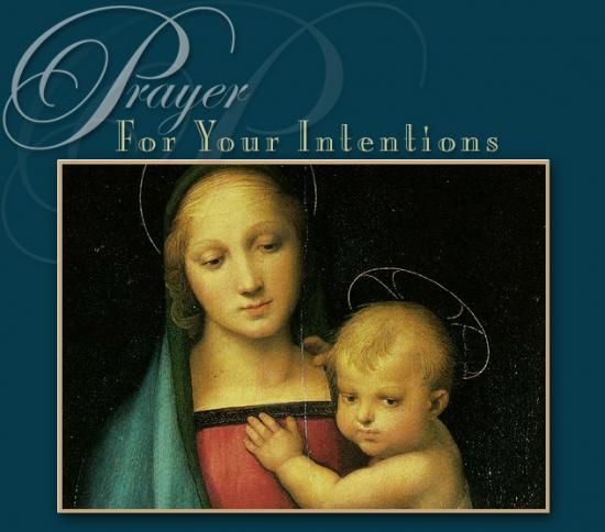 Prayer card for your intentions