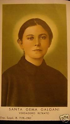 Sainte-Gemma Galgani, carte de prière