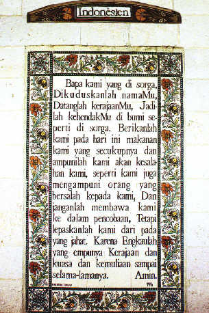 Notre Père en indonésien/Bahasa Pater Noster