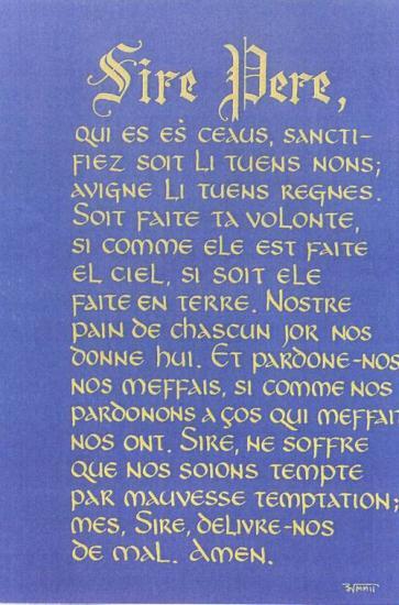 Notre Père en français médiéval