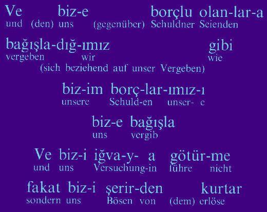 Notre Père en turc 2/Turkish Pater Noster 2