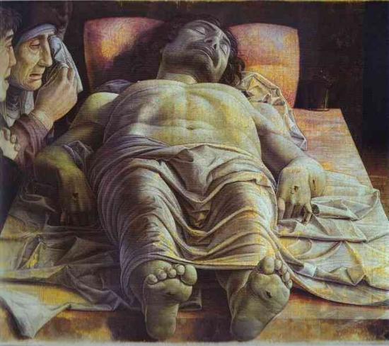 Christ mort, Andrea Mantegna, vers 1500
