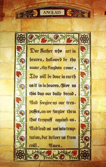 Notre Père en anglais/English Pater Noster