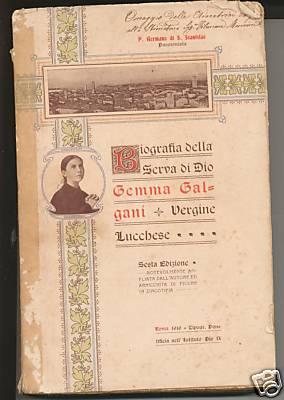 1ère biographie de Gemma Galgani, père Germanus, 1910