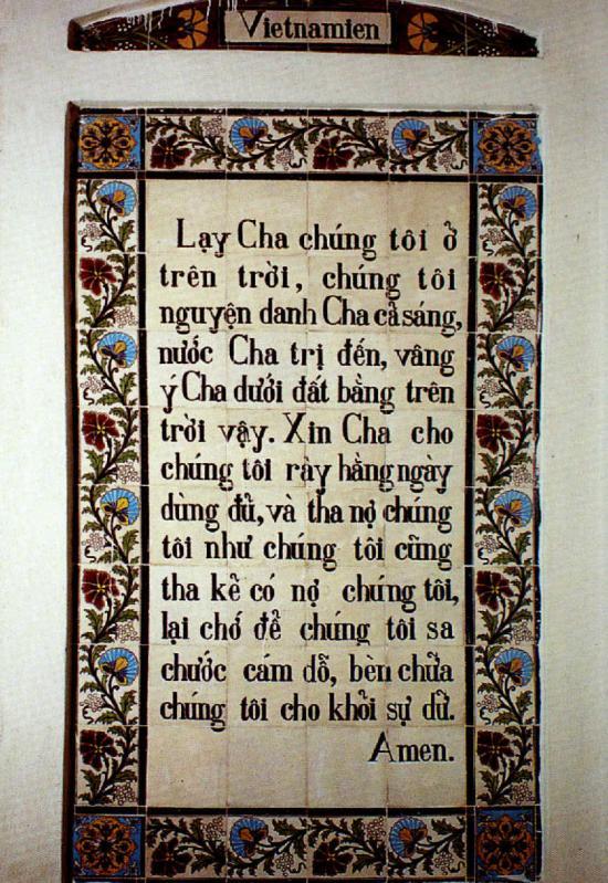 Notre Père en Viêtnamien/Vietnamese Pater Noster