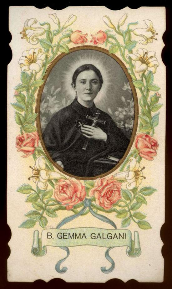Sainte-Gemma Galgani, holy card