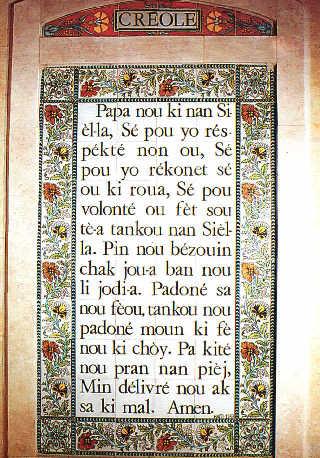 Notre Père en créole/Creole Pater Noster