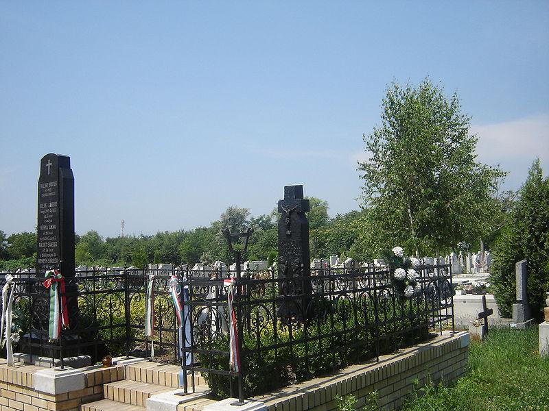Tombe de Bálint Sándor, ethnographe hongrois, à Szegeden (HU)