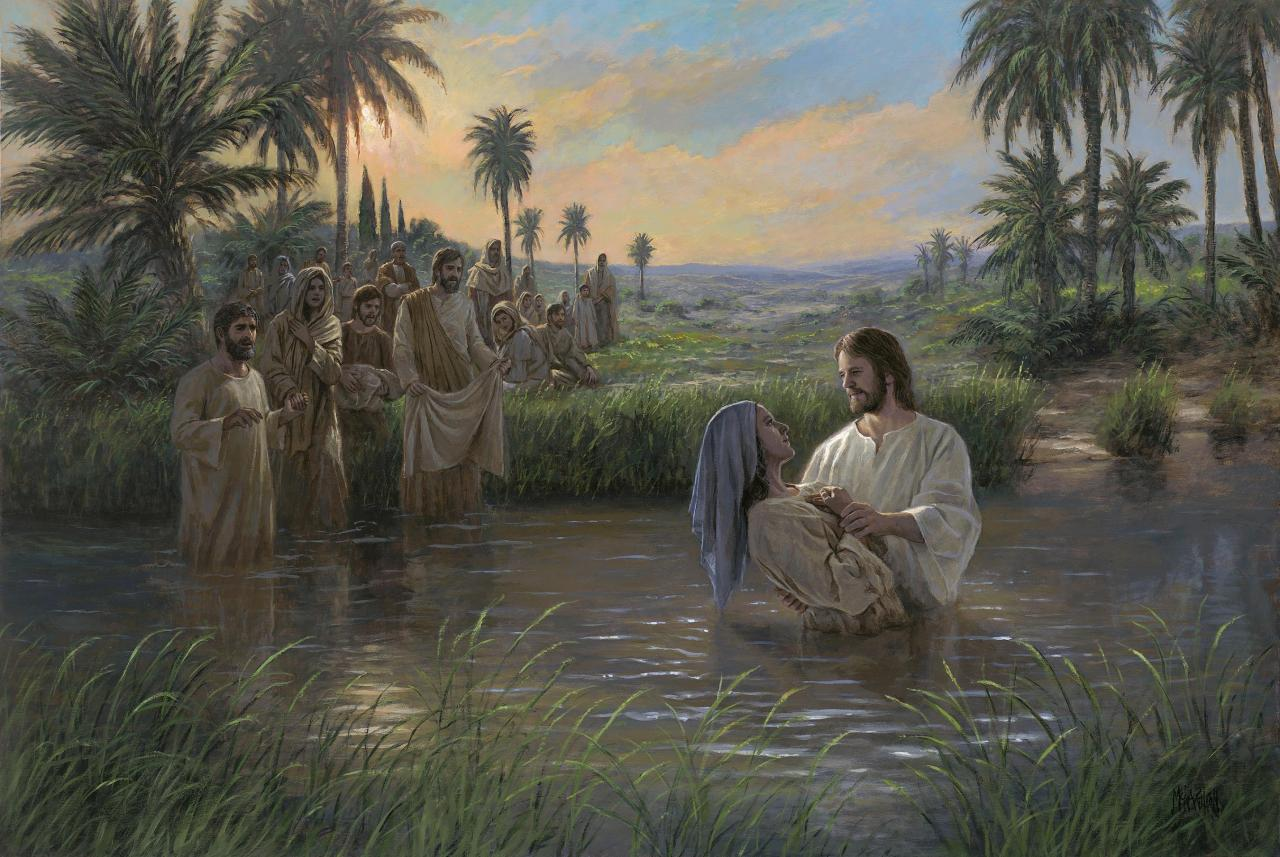 'JESUS HIMSELF BAPTIZED' by Jon McNaughton