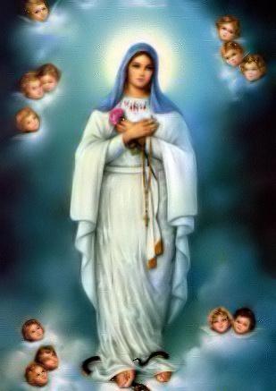 Notre-Dame du Rosaire et anges