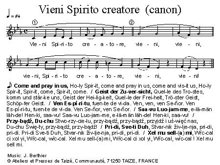 Vieni Spirito Creatore (canon)