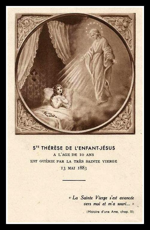 La Vierge du Sourire guérit Sainte Thérèse le 13 mai 1883