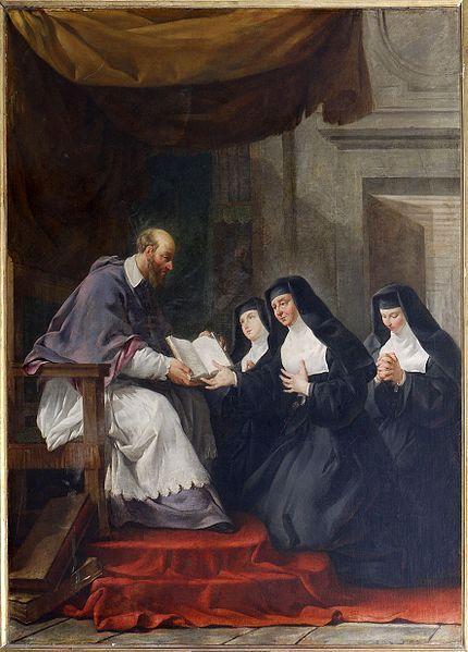 1610-francois-de-sales-remet-a-sainte-jeanne-de-chantal-la-regle-de-l-ordre-de-la-visitation-noel-halle-parousie-over-blog-fr.jpg