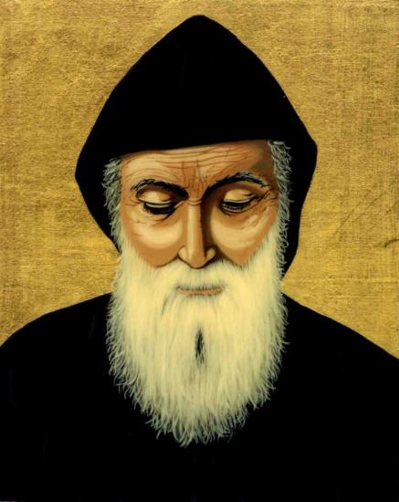 Saint charbel icon christine habib el daye parousie over blog fr