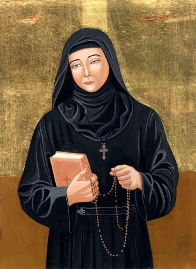 Saint rafqa icon christine habib el dayeparousie over blog fr